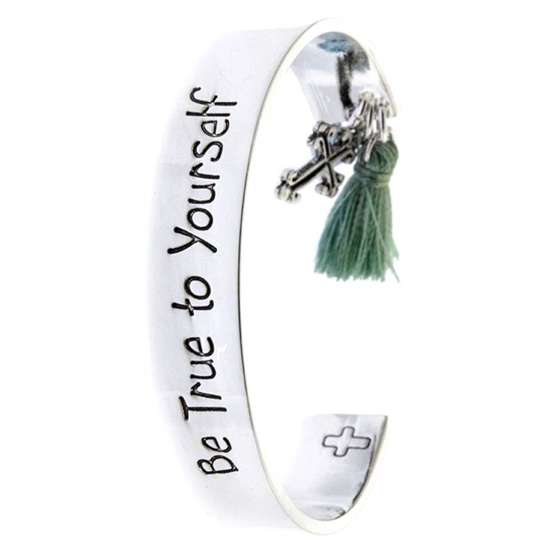 Be True To Yourself Cuff Bracelet - Jewelry Buzz Box  - 1