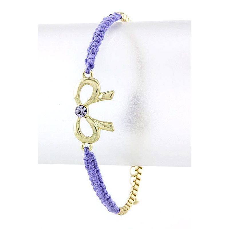 Braid & Bow Bracelet - Jewelry Buzz Box  - 1