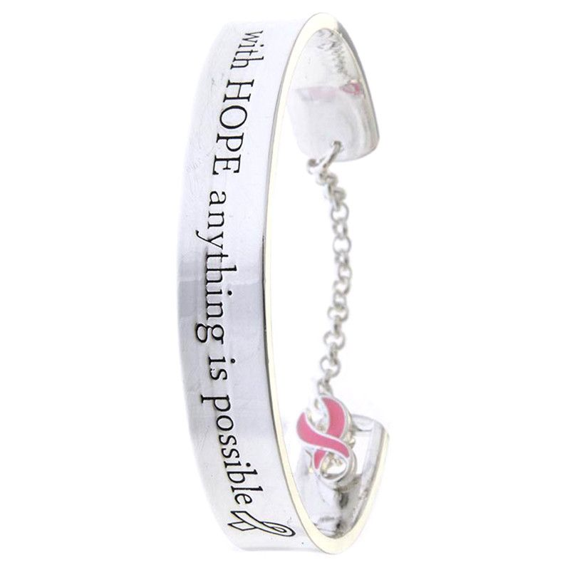 Breast Cancer Awareness Charm Bracelet - Jewelry Buzz Box  - 2