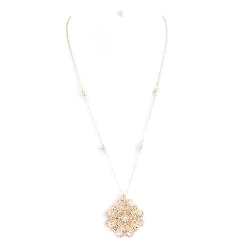 Exquisite Crystal Pendent Necklace Set - Jewelry Buzz Box  - 3