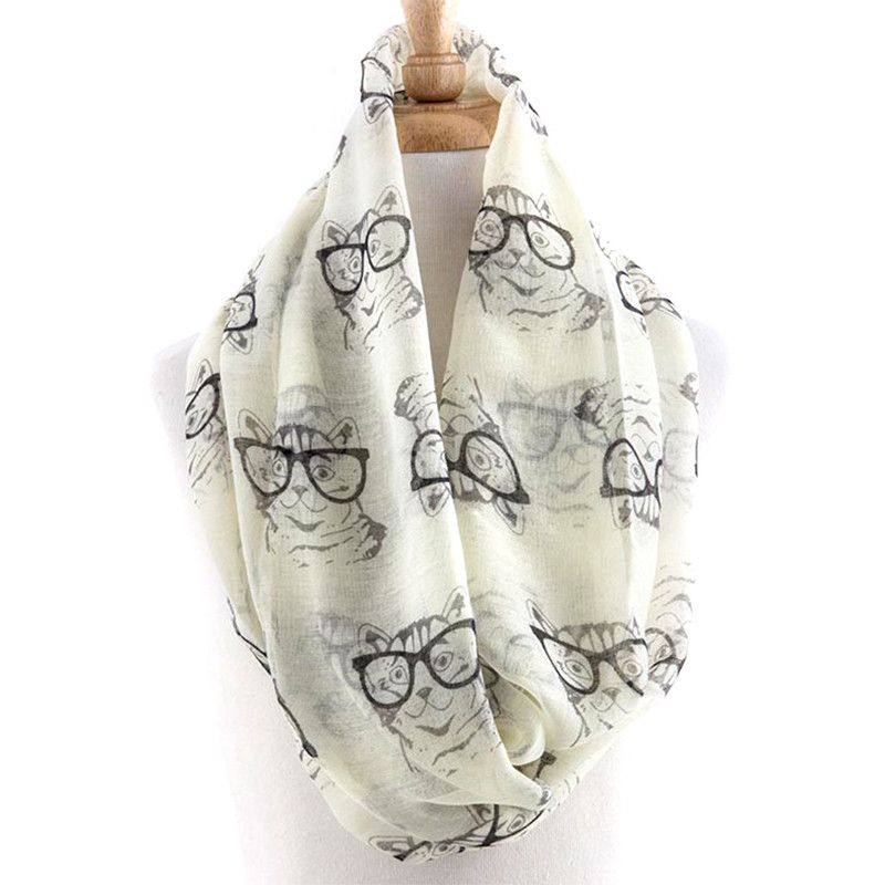 Awesome Cat With Glasses Scarf - Jewelry Buzz Box  - 5