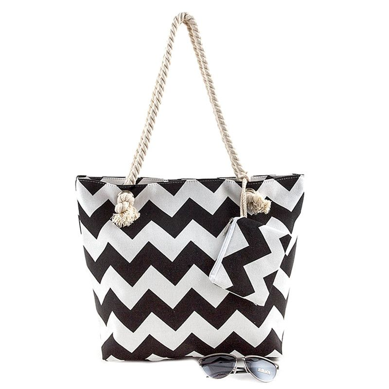 Beach Ready Canvas Tote Bag - Jewelry Buzz Box  - 2