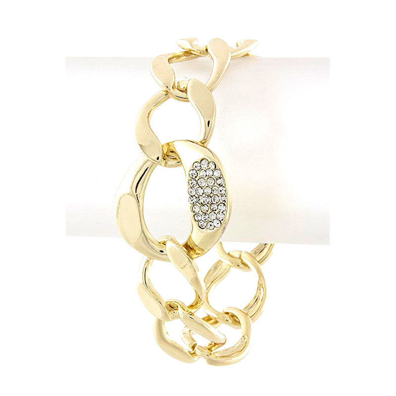 Glorious Oval Chain Link Bracelet - Jewelry Buzz Box  - 3