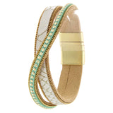 Glimmering Genuine leather Bracelet - Jewelry Buzz Box  - 2