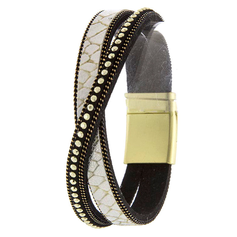 Glimmering Genuine leather Bracelet - Jewelry Buzz Box  - 3