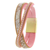 Glimmering Genuine leather Bracelet - Jewelry Buzz Box  - 1