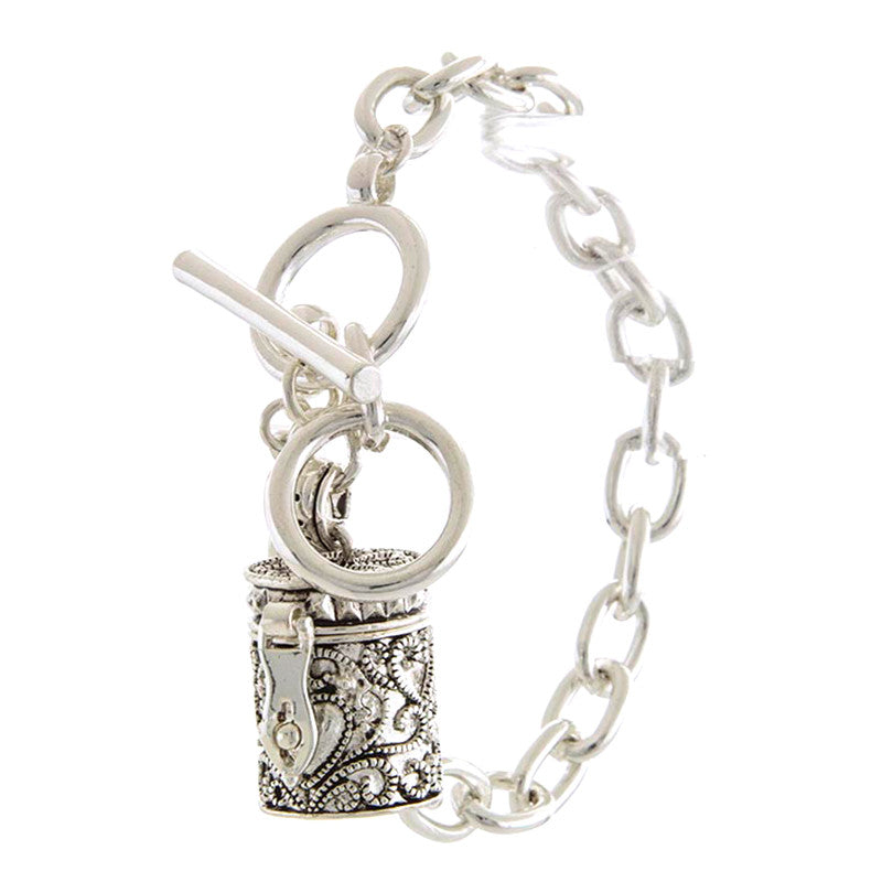 Memorable Container Charm Bracelet - Jewelry Buzz Box  - 1