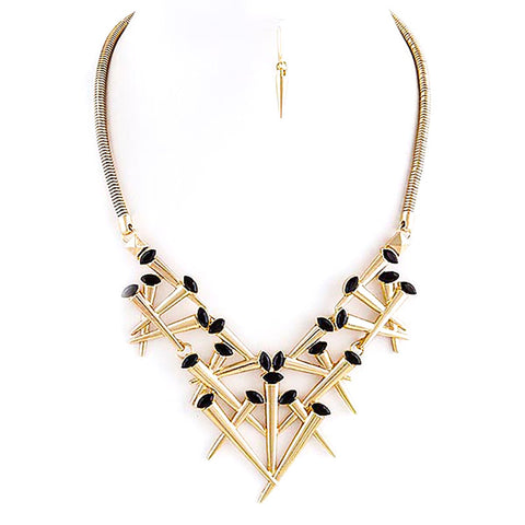 Horn Tusk Necklace Set