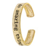 Do Amazing Things Cuff Bracelet - Jewelry Buzz Box  - 2