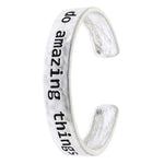 Do Amazing Things Cuff Bracelet - Jewelry Buzz Box  - 1
