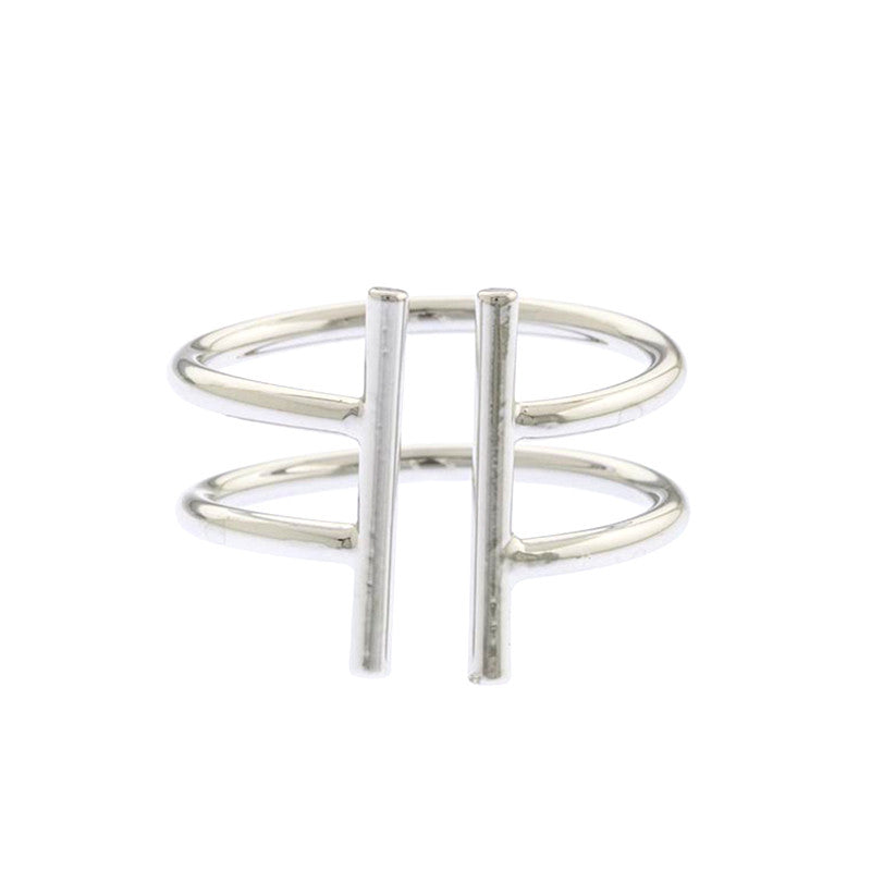 Metal Bar Adjustable Ring - Jewelry Buzz Box  - 2