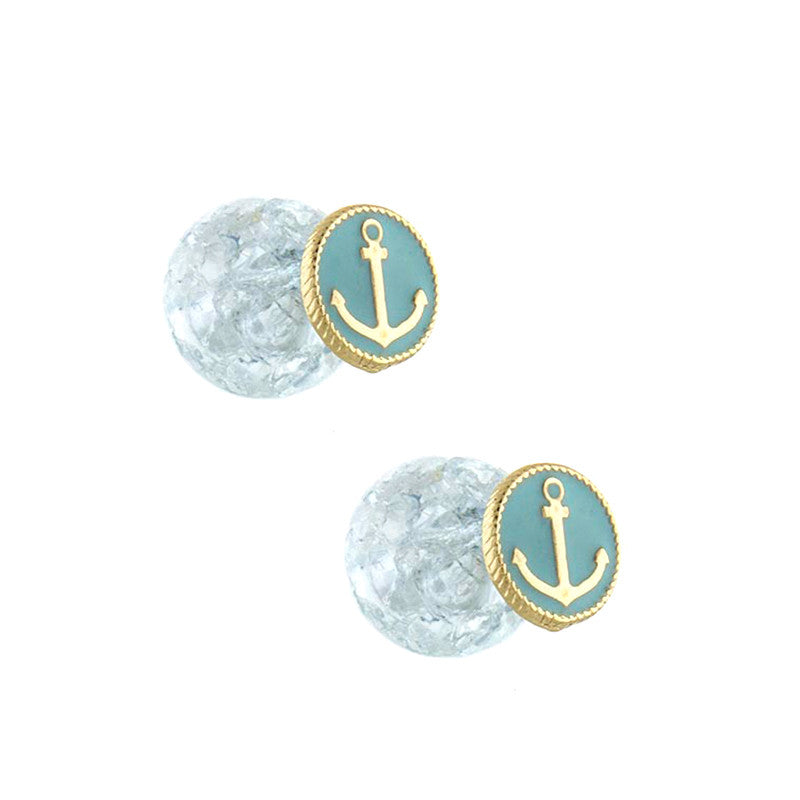 Double Sided Anchor Studs - Jewelry Buzz Box  - 2