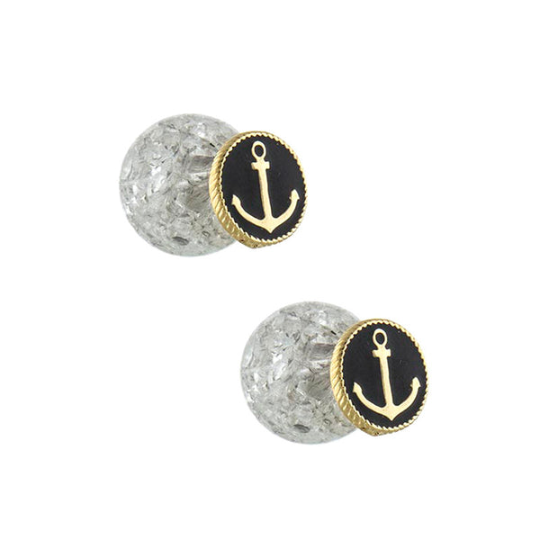 Double Sided Anchor Studs - Jewelry Buzz Box  - 1