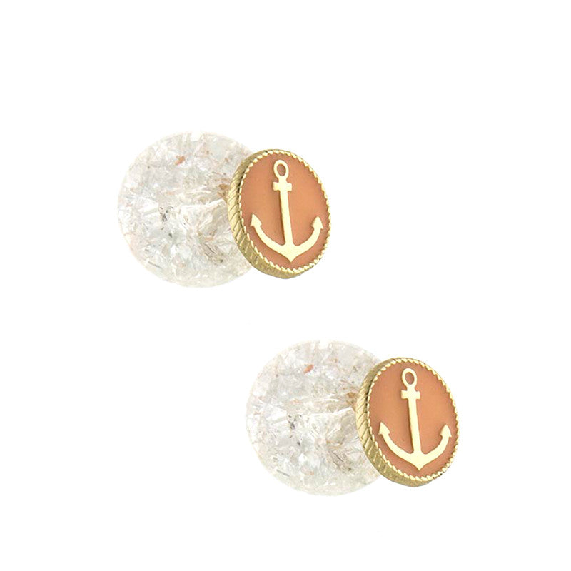 Double Sided Anchor Studs - Jewelry Buzz Box  - 4