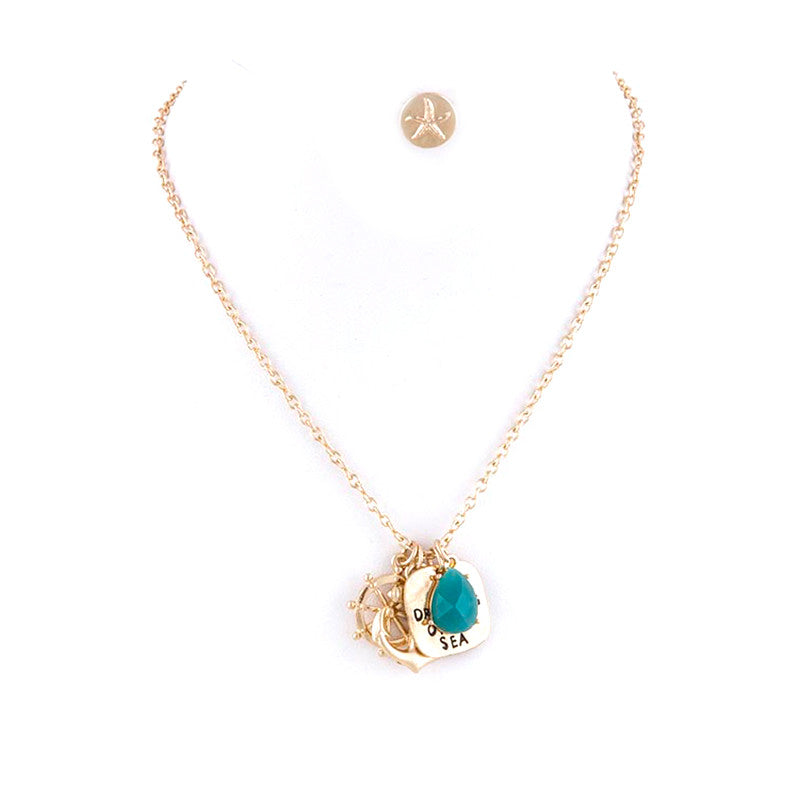 Dreams of The Sea Necklace And Earring Set - Jewelry Buzz Box  - 3