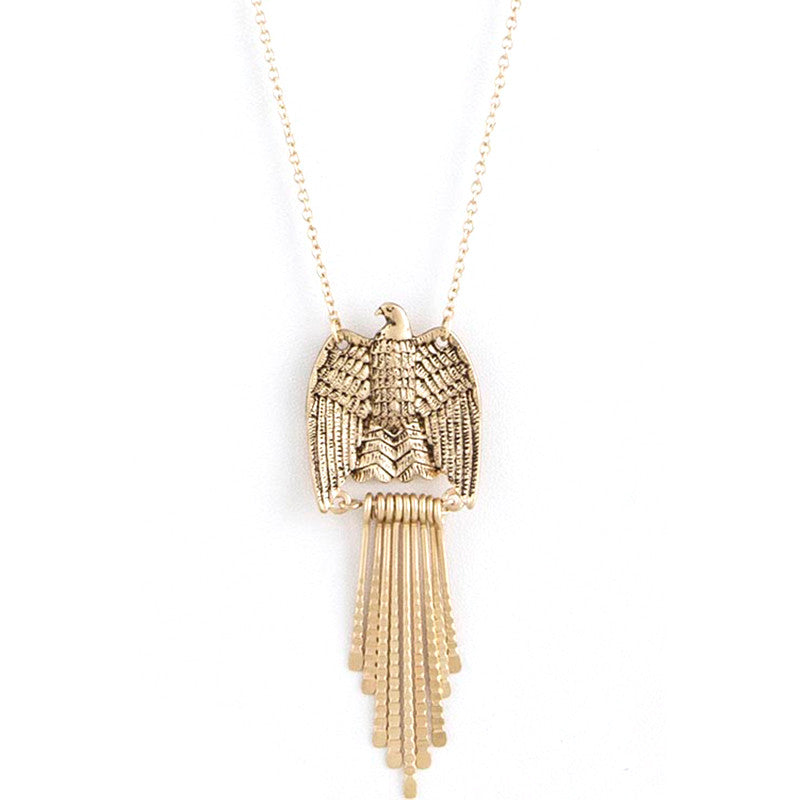 Refined Eagle Long Necklace Set - Jewelry Buzz Box  - 1