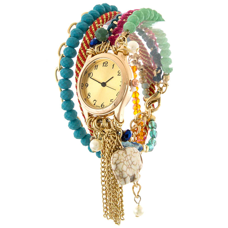 Elephant Bracelet Wrap Watch - Jewelry Buzz Box