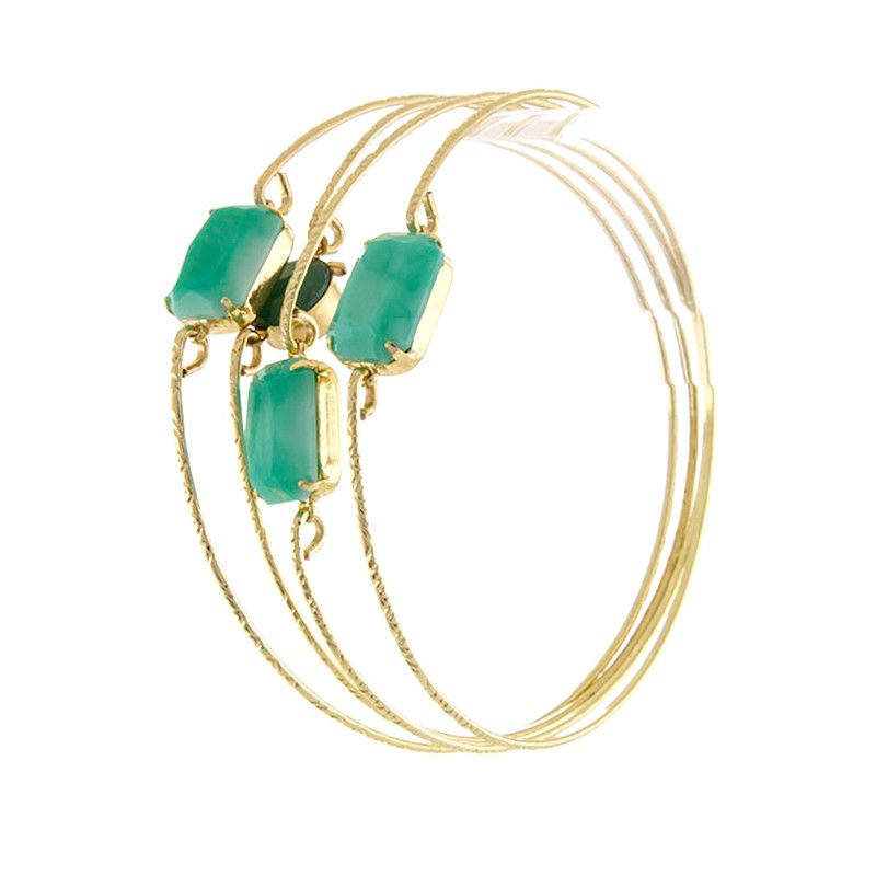 Beautiful Emerald Bracelet - Jewelry Buzz Box