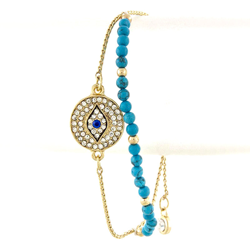 Evil Eye Beaded Bracelet - Jewelry Buzz Box  - 1