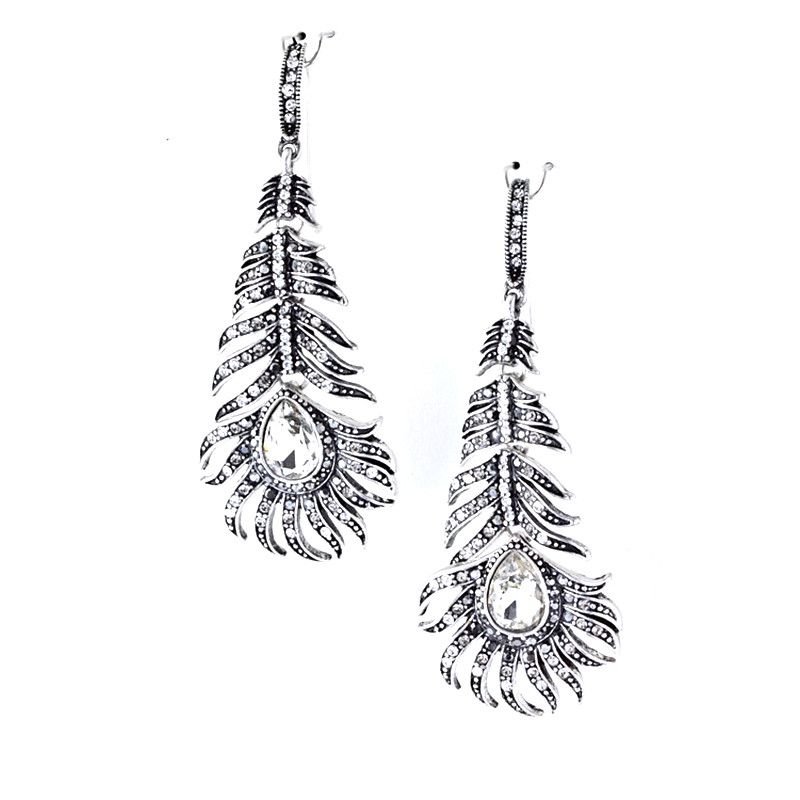 Bold Metal Feather Earrings - Jewelry Buzz Box  - 2