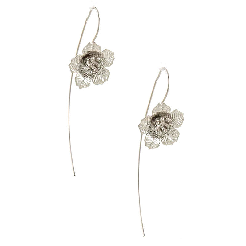 Floral Wire Earrings - Jewelry Buzz Box  - 2