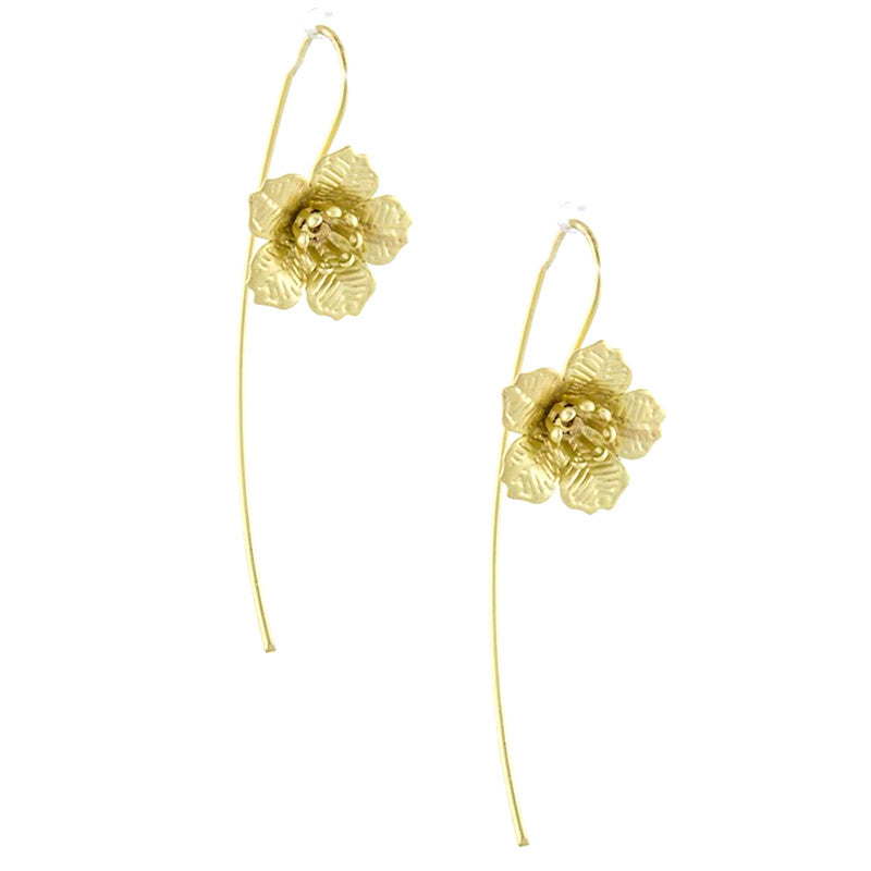 Floral Wire Earrings - Jewelry Buzz Box  - 1