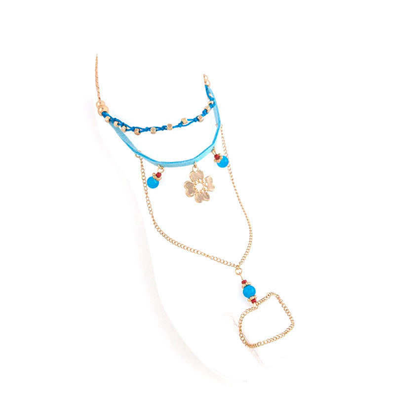 Fab Flower Toe Ring Anklet - Jewelry Buzz Box  - 2
