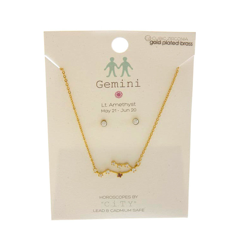 Horoscope Necklace Set - Jewelry Buzz Box  - 18