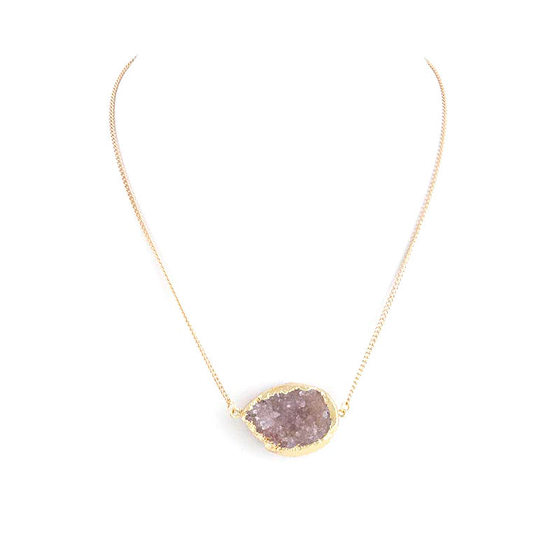 Druzy Geo Necklace - Jewelry Buzz Box  - 2