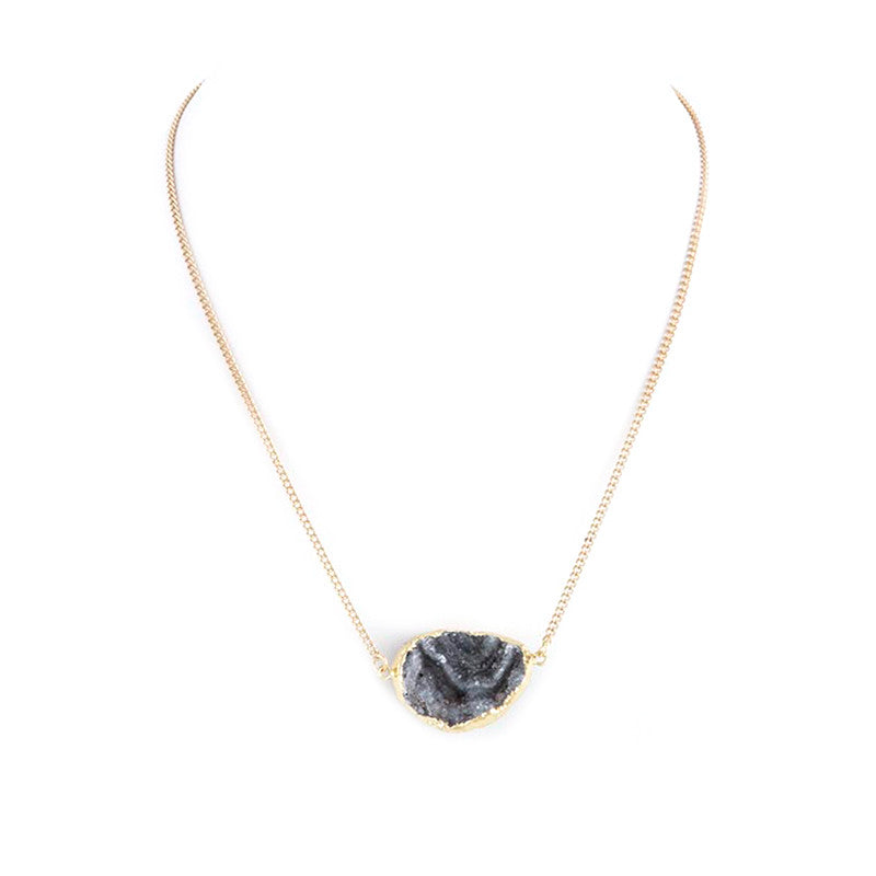 Druzy Geo Necklace - Jewelry Buzz Box  - 1