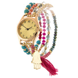 Hamsa Palm Stretch Bracelet Watch - Jewelry Buzz Box