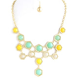 Hexagon Necklace - Jewelry Buzz Box  - 3