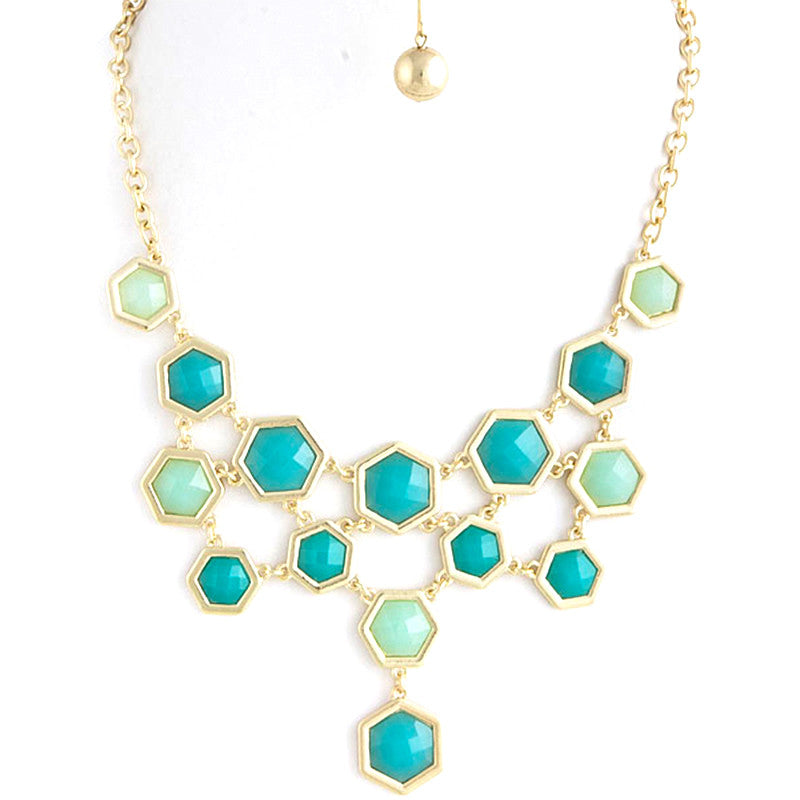 Hexagon Necklace - Jewelry Buzz Box  - 1