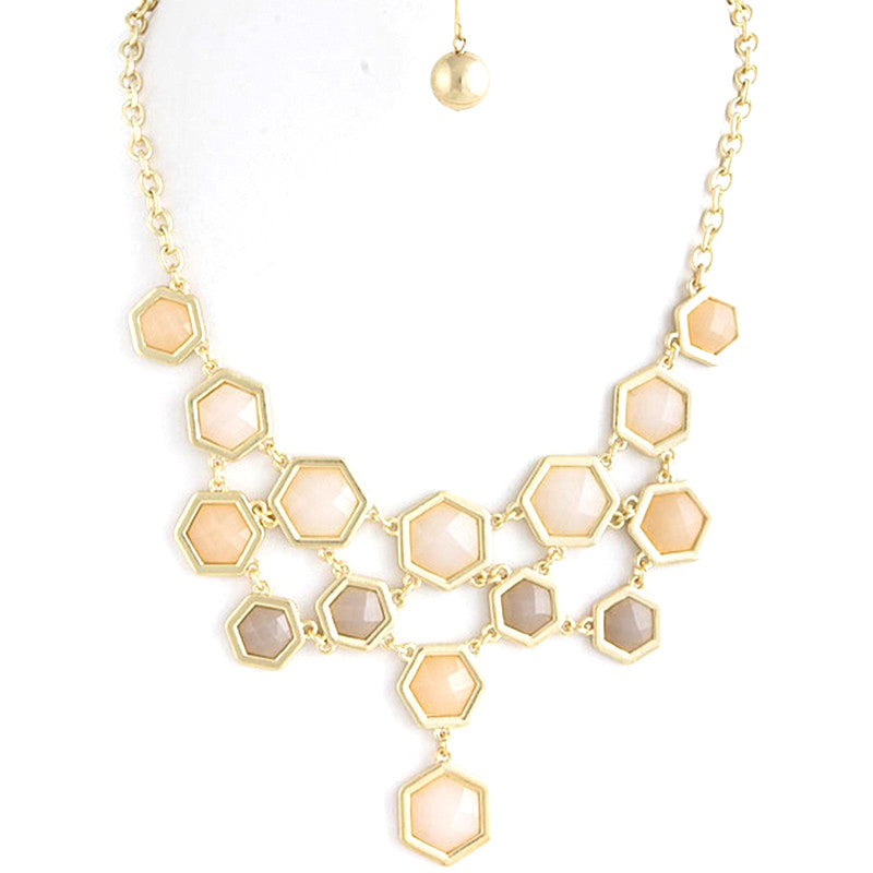 Hexagon Necklace - Jewelry Buzz Box  - 4