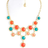 Hexagon Necklace - Jewelry Buzz Box  - 5