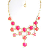 Hexagon Necklace - Jewelry Buzz Box  - 2