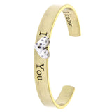 I Love You Cuff Bracelet - Jewelry Buzz Box  - 1