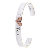 I Love You Cuff Bracelet - Jewelry Buzz Box  - 2