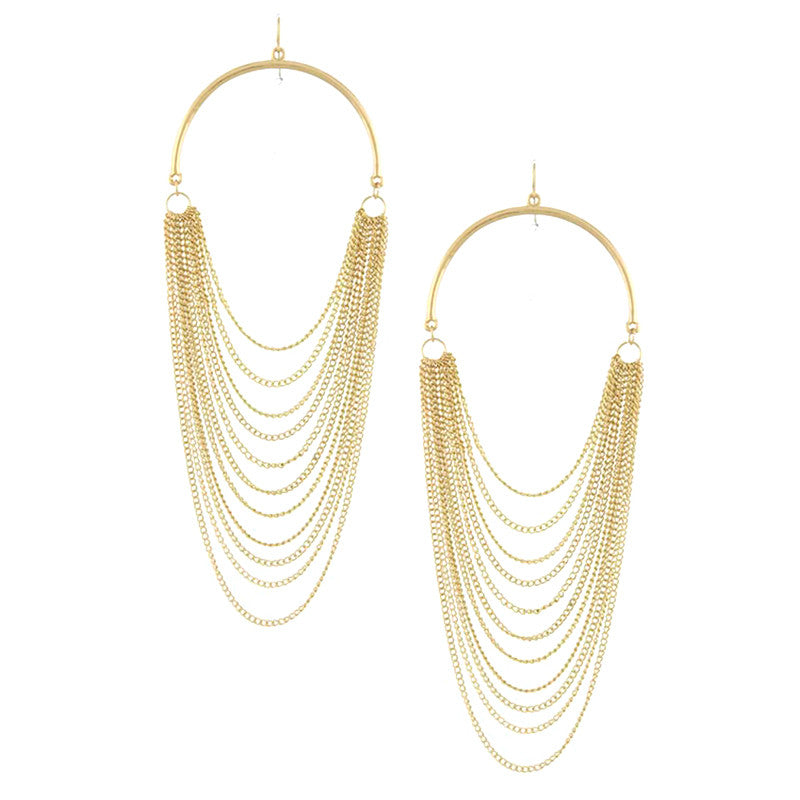 Fancy Chain Earrings - Jewelry Buzz Box  - 2