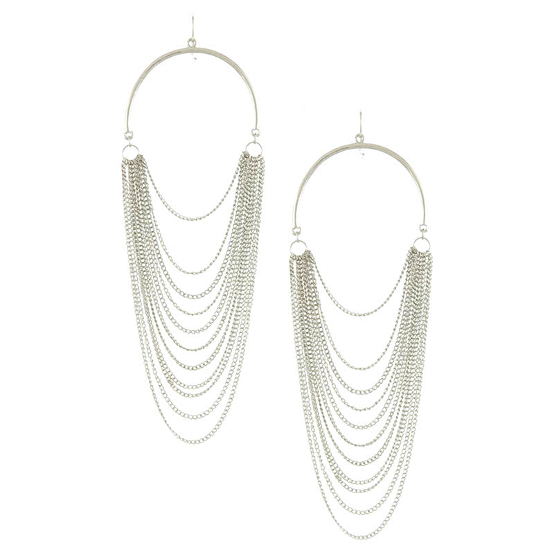 Fancy Chain Earrings - Jewelry Buzz Box  - 1