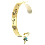 Live Your Life Cuff Bracelet - Jewelry Buzz Box  - 1