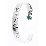 Live Your Life Cuff Bracelet - Jewelry Buzz Box  - 2