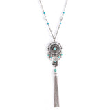 Flare Tassel Long Necklace - Jewelry Buzz Box  - 1
