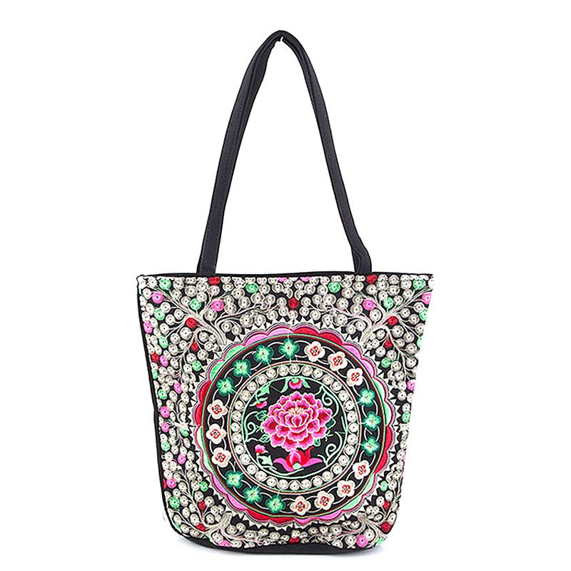 Beautiful Floral Tote Bag - Jewelry Buzz Box  - 1