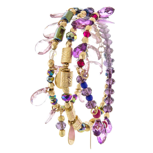Cute Mix Bead Stretch Bracelet - Jewelry Buzz Box