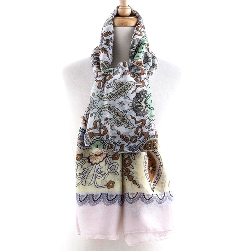 Detailed Jacquard  Scarf - Jewelry Buzz Box  - 4