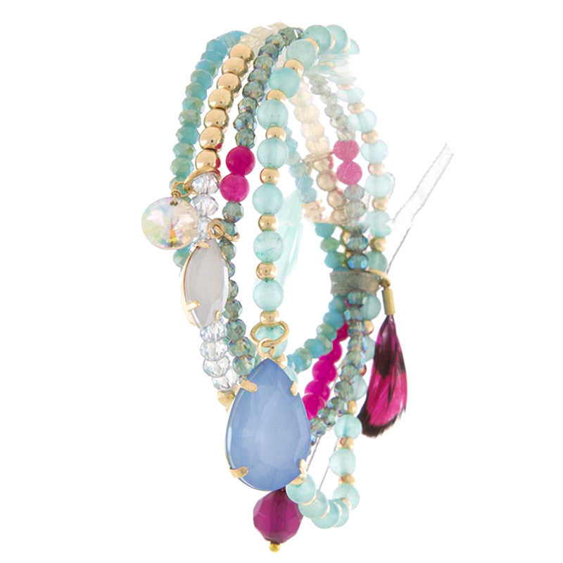 Elegant Mix Bead Layer Bracelet - Jewelry Buzz Box  - 1