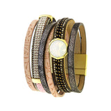 Fabulous Multi Layer Leather Bracelet - Jewelry Buzz Box  - 1