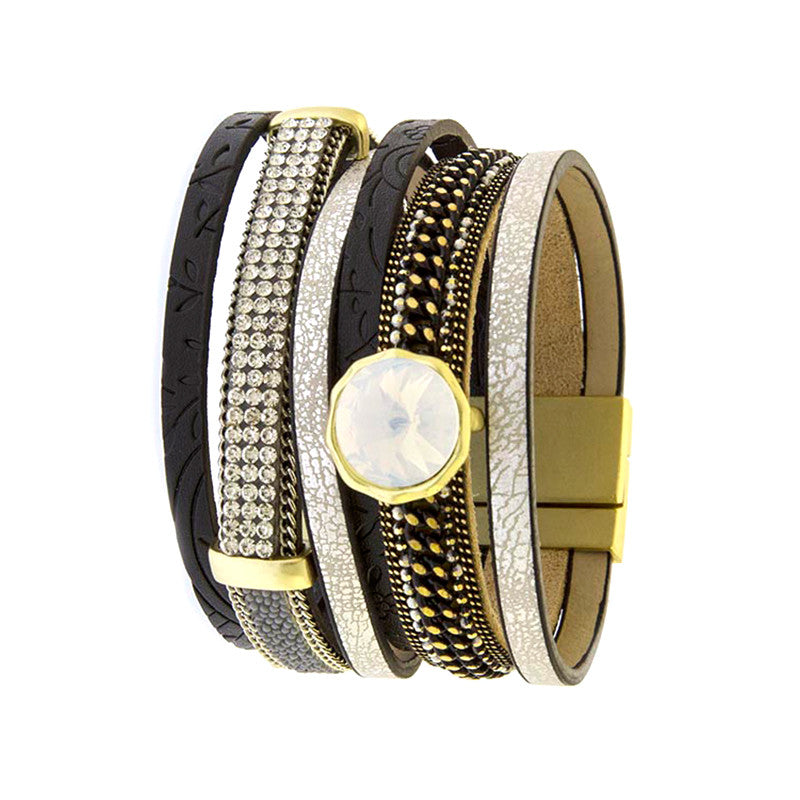 Fabulous Multi Layer Leather Bracelet - Jewelry Buzz Box  - 3