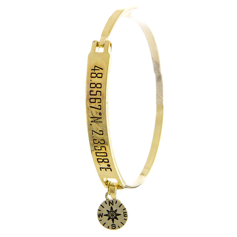 Paris Compass Charm Bracelet - Jewelry Buzz Box  - 1